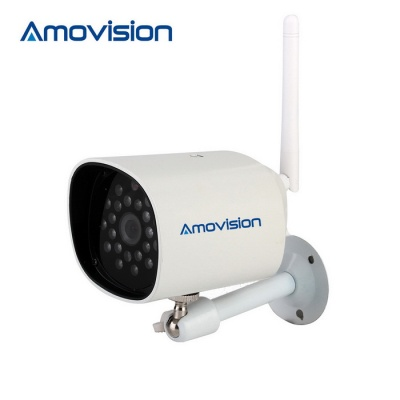 Amovision 1.0MP 720P CMOS 3.6mm Network IP Camera - White (AU Plug)
