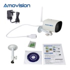 Amovision 1.0MP 720P CMOS 3.6mm cámara IP de red - blanco (au plug)