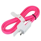 Universal Micro USB / USB 2.0 Data / Charging OTG Cable - White + Pink (100cm)
