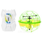 UDIR/C U935 Induced IR Remote Control Helicopter Aerocraft Dimmable Light Fly Ball - Green + Yellow