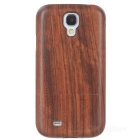 Protective Wooden Back Case for Samsung Galaxy S4 - Brown