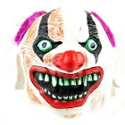 Purple Hair Clown Rubber Mask for Cosplay / Halloween Costume Party