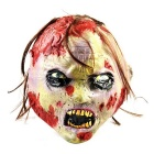 Rotten Corpse Rubber Mask for Cosplay / Halloween Costume Party - Greyish White + Multicolor