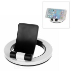 Universal ABS Desktop Phone Mount Holder Stand for IPHONE / Samsung / Xiaomi & More - Black + White