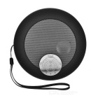 Round Shaped Bluetooth V2.1 Speaker w/ TF, USB 2.0, 3.5mm / Micro USB - Black + Grey