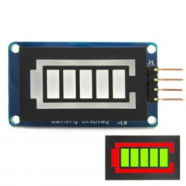 Battery Style Digital Tube LED Battery Level Display Module