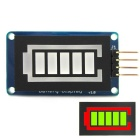Battery Style Digital Tube LED Battery Level Display Module Green Inside Red Outside for Arduino