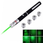 5-Mode 2mW Stars Shape Green Laser Clip Pointer  (2 x AAA)