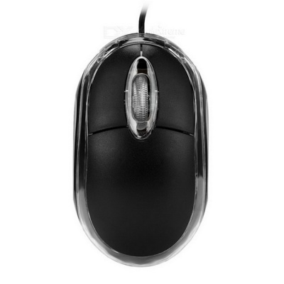MAIKOU M-10 USB 2.0 3-Button Wired Optical Wheel Mouse - Black