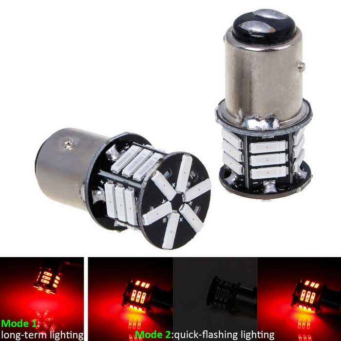 1157 8W 630lm 21-2070 SMD LED Red Light Car Brake Light (12V / 1-Pair)