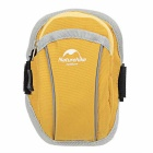 "NatureHike Outdoor Sports Nylon Arm Band Bag for 4.7"" Devices - Yellow + Grey (S)"