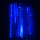 JIAWEN Waterproof 50cm 8-Tube Blue Meteor Rain Light Tube Light