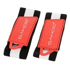 SAHOO Bicycle Cycling Beam Belt - Black + Red (Pair)