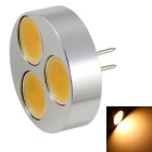 G4 4.5W 360lm 3000K 3-COB Small Spotlights Warm White Light - Silver + Black (DC 12V)