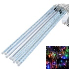 JIAWEN Waterproof 50cm 8-Tube RGB Meteor Light Decoration Tube Lights  (US Plug, AC 110V)