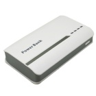 "Portable Universal ""9000mAh"" Li-ion Battery Dual USB Power Bank - White + Light Grey"