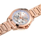 MEGIR Men's Multi-Function Steel Band Quartz Watch - Rose Golden