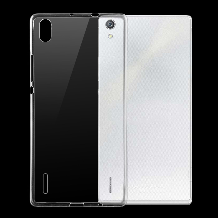 Protective TPU Back Cover Case Huawei Ascend P7 - Transparent
