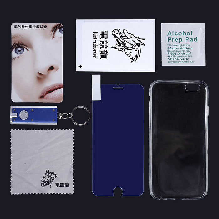 esport dragon anti blue ray film w / Case voor iPhone 6 - transparant