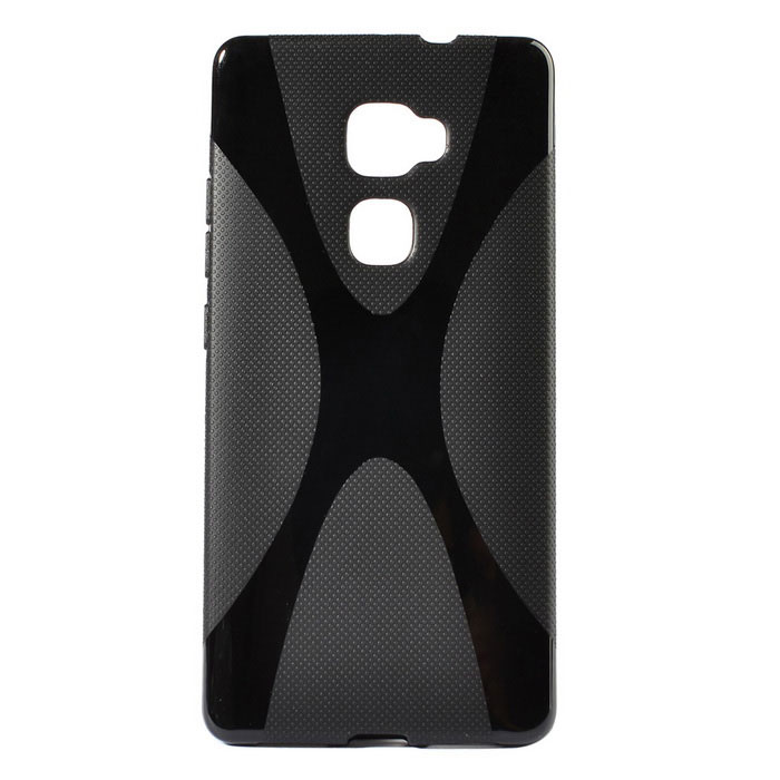 """X"" Pattern Non-Slip TPU Back Case for HUAWEI Mate S - Black"
