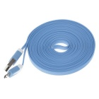 Micro USB M to USB 2.0 M Flat Cable for Samsung - Blue (3m / 2PCS)