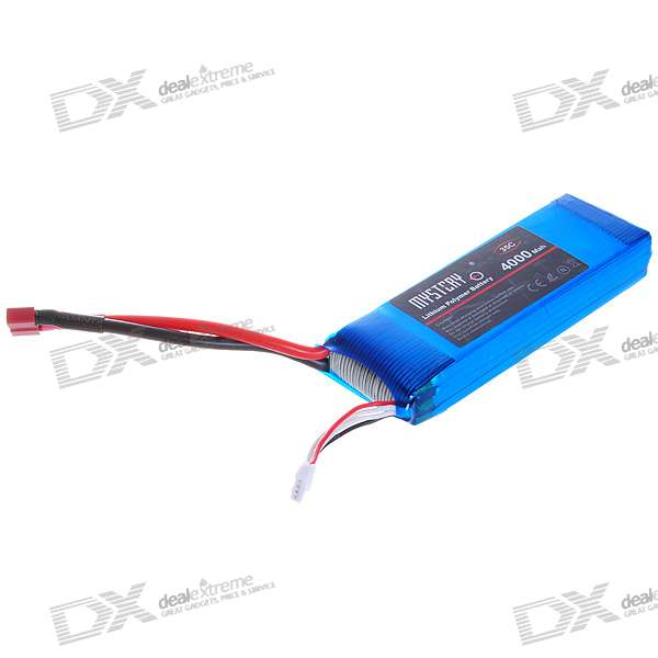 Mystery 11V 4000mAh 35C Replacement Li-Poly Battery Pack for RC Helicopter/Boat (Blue)