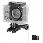 "2.0"" LTPS CMOS 14MP 1080P Mini DV / Sports Camera w/ TF, Wi-Fi - Silver + Black"