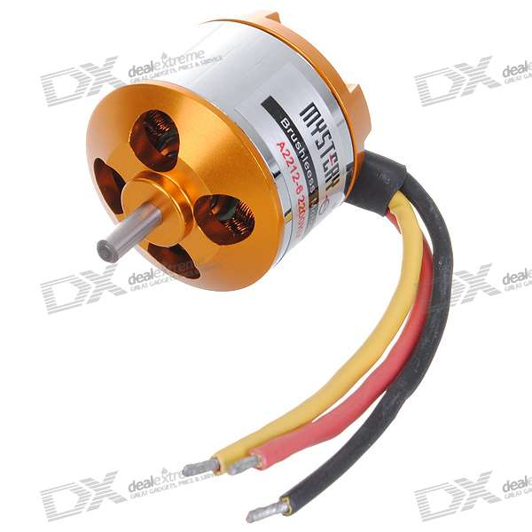 A2212-6 2200KV Brushless Motor Set - Golden