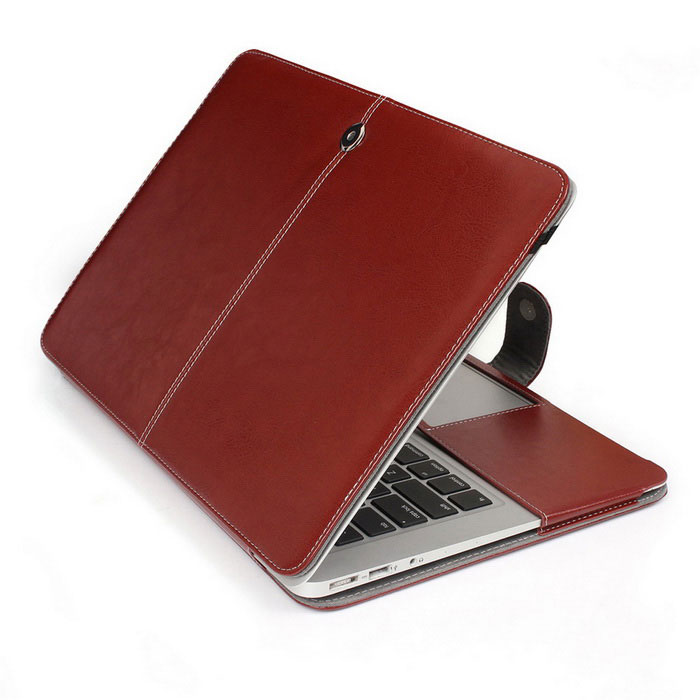 "Protective PU Leather Case for MACBOOK AIR 13.3"" - Brown"