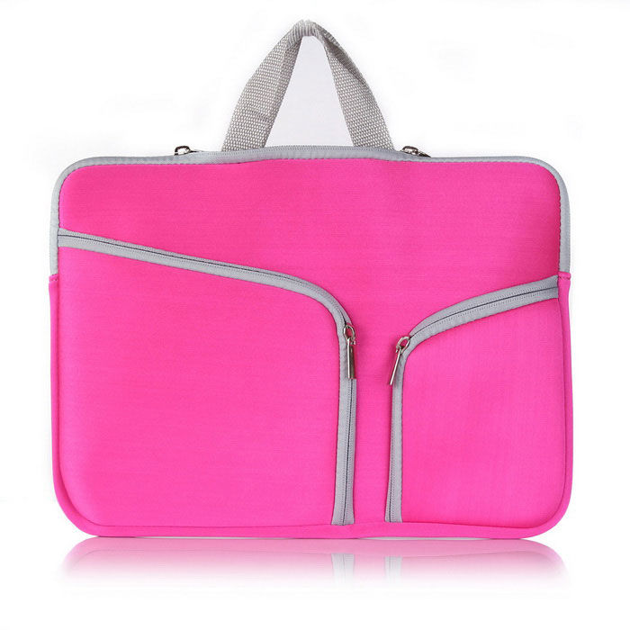 "ASLING Zip Handbag Laptop Bag for MACBOOK AIR 11.6"" - Dark Pink"