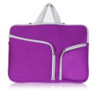 "ASLING Double Pocket Zip Handbag Laptop Bag For Macbook Air 11.6"" - Purple"