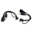 CY U2-165-LE / U2-165-RI Left & Right Angled 90 Grad-Micro-USB-OTG-Kabel für Handy & Tablet