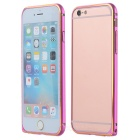 Protective Ultrathin Aluminum Alloy Bumper Frame Case for IPHONE 6S - Deep Pink + Golden