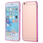 Protective Ultrathin Aluminum Alloy Bumper Frame Case for IPHONE 6S PLUS - Deep Pink + Golden