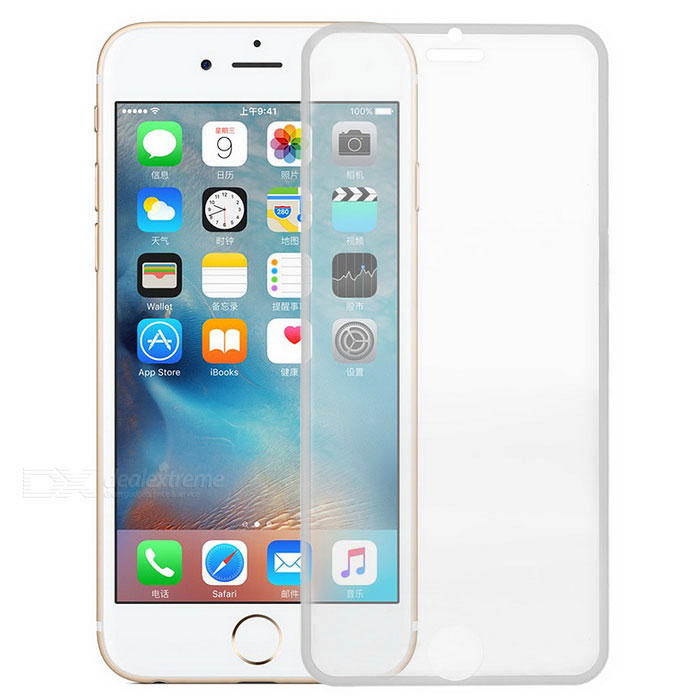 S-what Film de verre trempé 9H pour IPHONE 6 / 6S - blanc + transparent