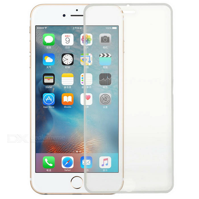 S-What Tempered Glass Full Cover Film för IPHONE 6S PLUS / 6 PLUS-vit