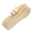 V8 Micro USB 2.0 to USB Charging Cable for Android Phones - Light Gold