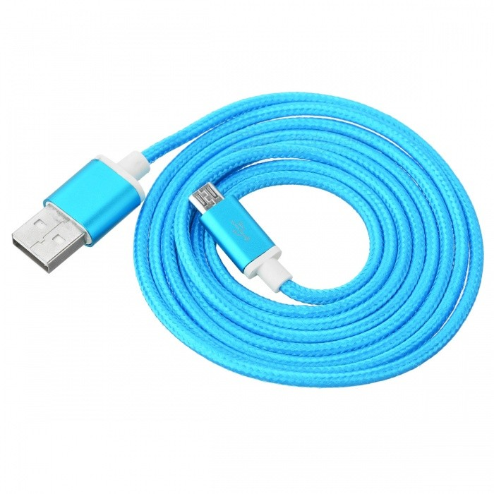 V8 Micro USB 2.0 to USB Charging Cable for Android Phones - Blue