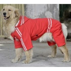 Acrylic Rain Coat Jacket Raincoat for Large Big Dog Pet - Red (4XL)