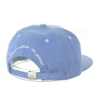 Unisex Fashionable Embroidered Hip-Hop Baseball Cap Hat - Light Blue