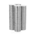 12 x 2mm Round Strong NdFeB Magnet - Silver (100pcs)