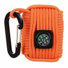Outdoor Sports Multifunction Tool Kits w/ Compass / Carabiner - Orange