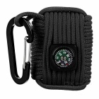 Outdoor Sports Multifunction Tool Kits w/ Compass / Carabiner - Black