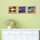 3D Beautiful Framed Pictures Style PVC Wall Sticker Decal - Blue + Yellow + Multi-Color