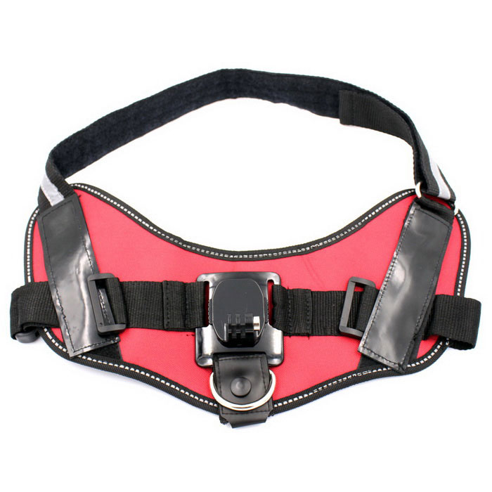 360' Rotation Dog Pet Chest Strap Mount for GoPro Hero 3/3+/4 - Red