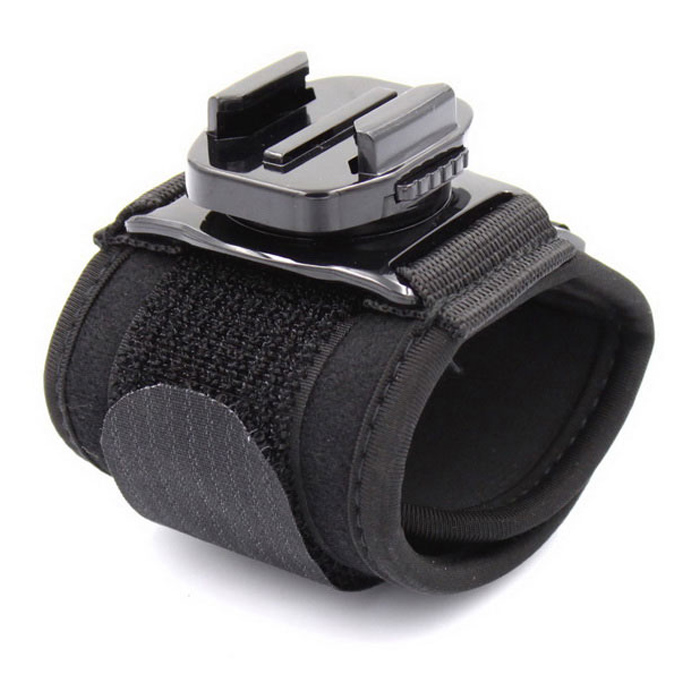 360° RotationWrist Arm Band Strap Mount for GoPro Hero 3 3+ 4 - Black