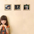 3D Cartoon Kitten False Picture Frame Wall Stickers for Living Room Bedroom Children's Room