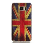 MO.MAT Shimmering UK Flag Style Protective TPU Back Case for Samsung Galaxy Note 5 - Red + Blue