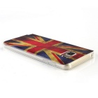 MO.MAT Shimmering UK Flag Style Case for Samsung Note 5 - Red + Blue