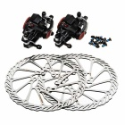 JCSP S-138 Bicycle Bike Front + Rear Mechanical Disc Brakes Set - Silver + Black